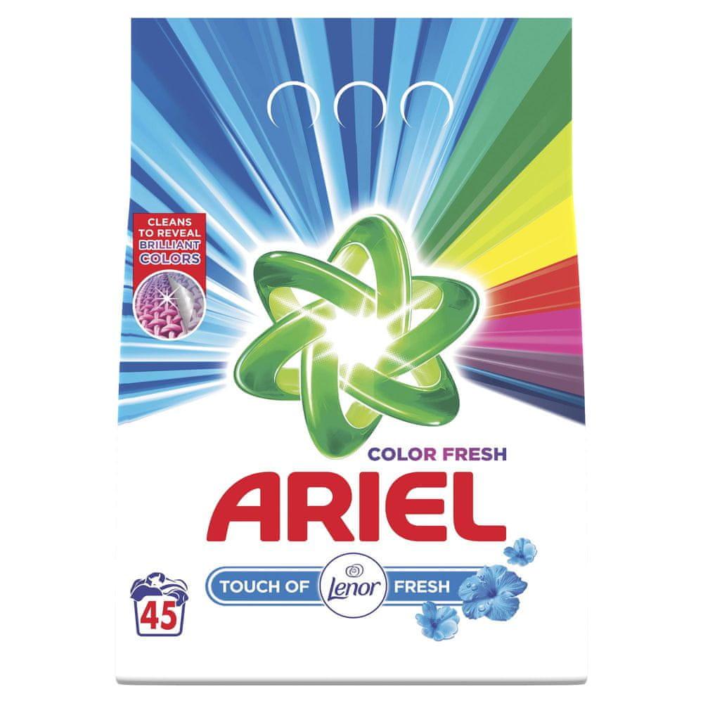 Ariel Color Fresh Prací prášek Touch of Lenor 45 Pracích dávek