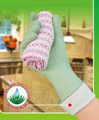 Toro Gumové rukavice - S, aloe, zelené