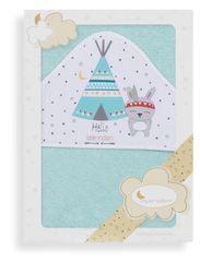 Interbaby ręcznik dziecięcy 100×100 Teepee, turkusowy