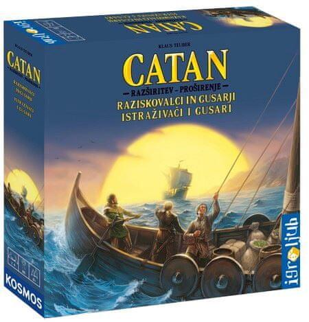 Igroljub Catan družabna igra, razširitev Raziskovalci in Gusarji