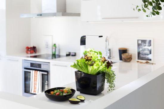 Tregren Tregren T3 Kitchen Garden, šikovný kvetináč, čierny