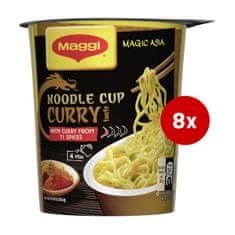 MAGGI Curry rezanci v lončku, 8 x 63 g
