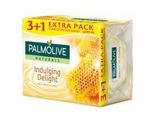 Palmolive Naturals toaletno milo, med & mleko, 90 g, 3+1