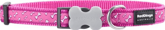 RED DINGO Piros dingo nylon gallér rózsaszín kockával
