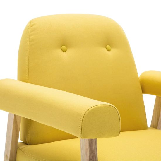 Greatstore Kreslo, žlté, látka