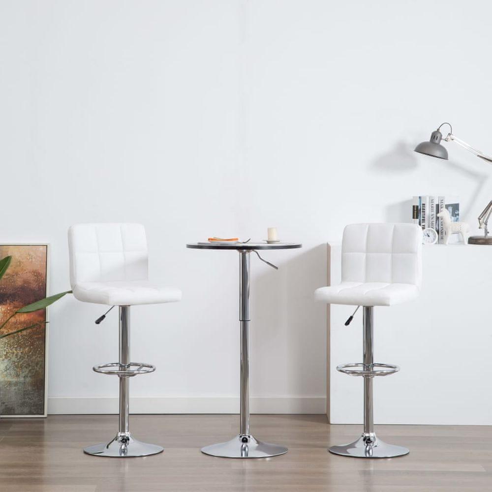 Barové židle 2 ks bílé umělá kůže