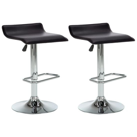 Greatstore Barski stolčki 2 kosa črno umetno usnje
