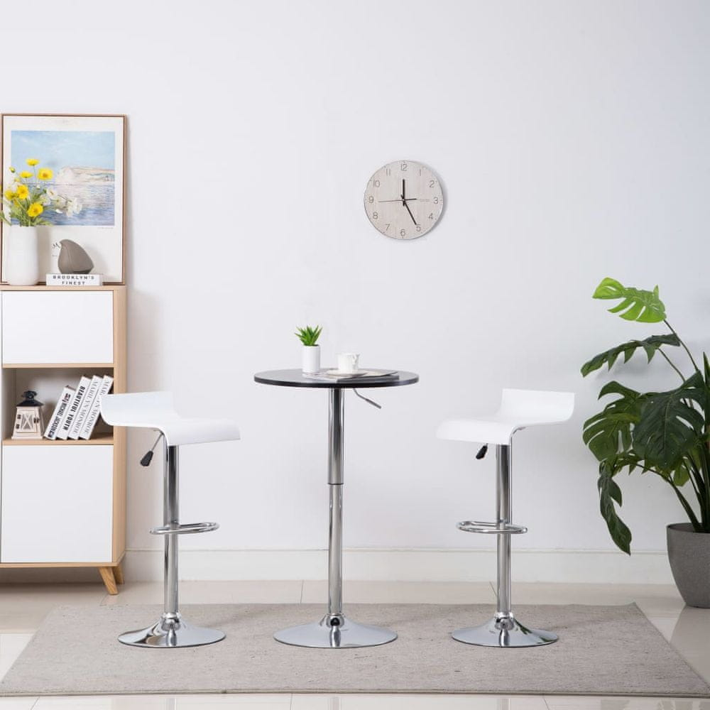 Barové stoličky 2 ks bílé