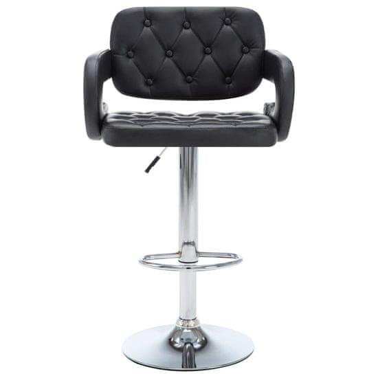 shumee Vrtljivi barski stolčki 2 kosa črno umetno usnje
