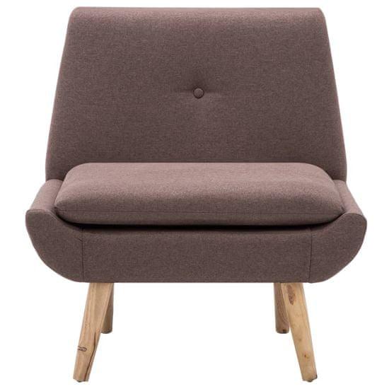shumee Počivalni stol s stolčkom za noge rjavo blago