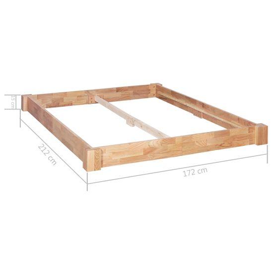 shumee Posteljni okvir iz trdne hrastovine 160x200 cm