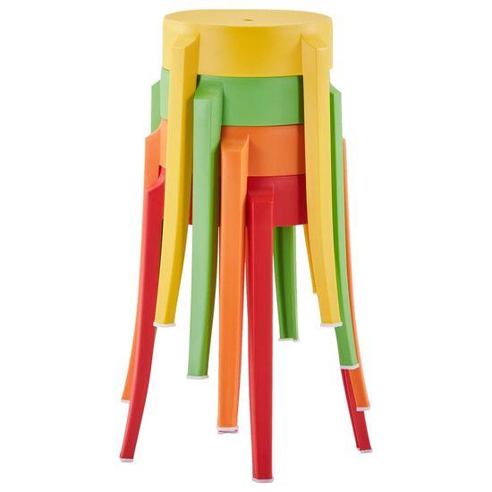shumee Stolčki 4 kosi večbarvna plastika