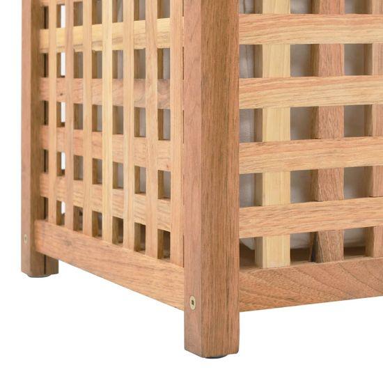 shumee Kôš na bielizeň 87,5x46x67 cm masívne orechové drevo