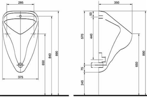 KOLO Urinál KOLO NOVATOP (ALEX), automatické splachování, bílý - 66000000