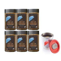 Cafédirect 6x BIO instantní káva bez kofeinu 100g + nerezový hrnek 200ml