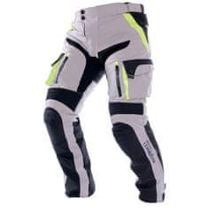 Cappa Racing Nohavice moto pánske MELBOURNE textilná šedé / fluo / čierne M