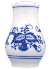 ČESKÝ PORCELÁN Slánka sypací s nápisem sůl 7,5 cm, dekor cibulák
