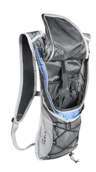 Force Cyklistický batoh TWIN - objem 14 litrů - šedo-modrý