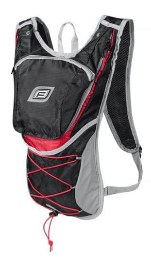 Force Cyklistický batoh TWIN - objem 14 litrů - černo-červený
