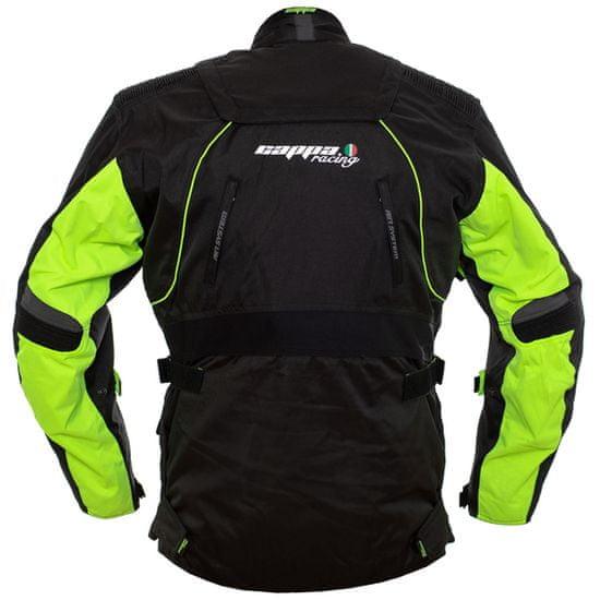 Cappa Racing Bunda moto UNISEX ROAD textilná čierna / zelená