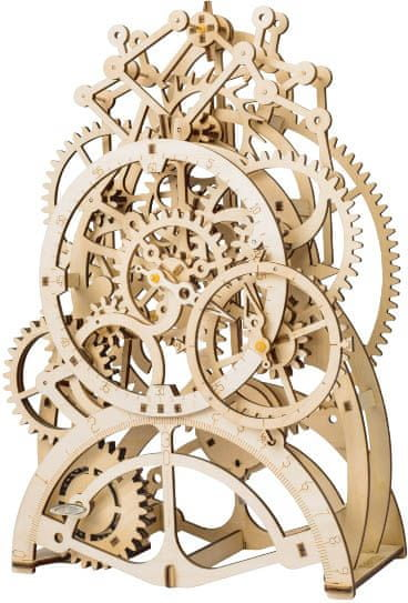 Robotime Robotime 3D dřevěné mechanické puzzle Hodiny s kyvadlem 166 dílků