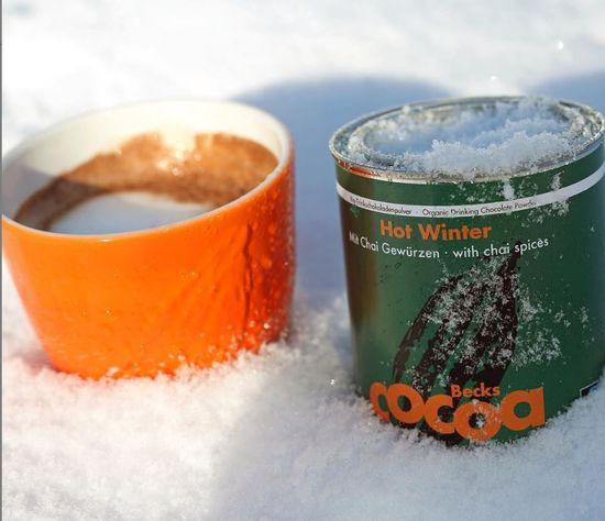 """Becks Cocoa BIO rozpustná čokoláda """"HOT WINTER"""" s deseti druhy zimního koření, 250g"""