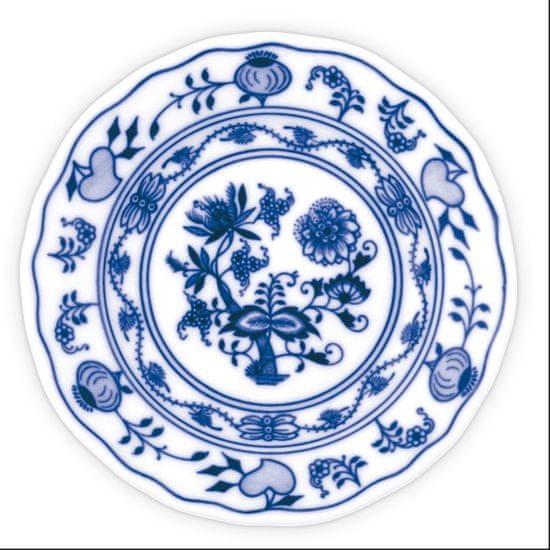 ČESKÝ PORCELÁN Talíř dezertní praporový Ø 13 cm, dekor cibulák, 6 ks