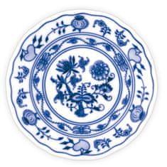 ČESKÝ PORCELÁN Talíř dezertní praporový Ø 15 cm, dekor cibulák, 6 ks