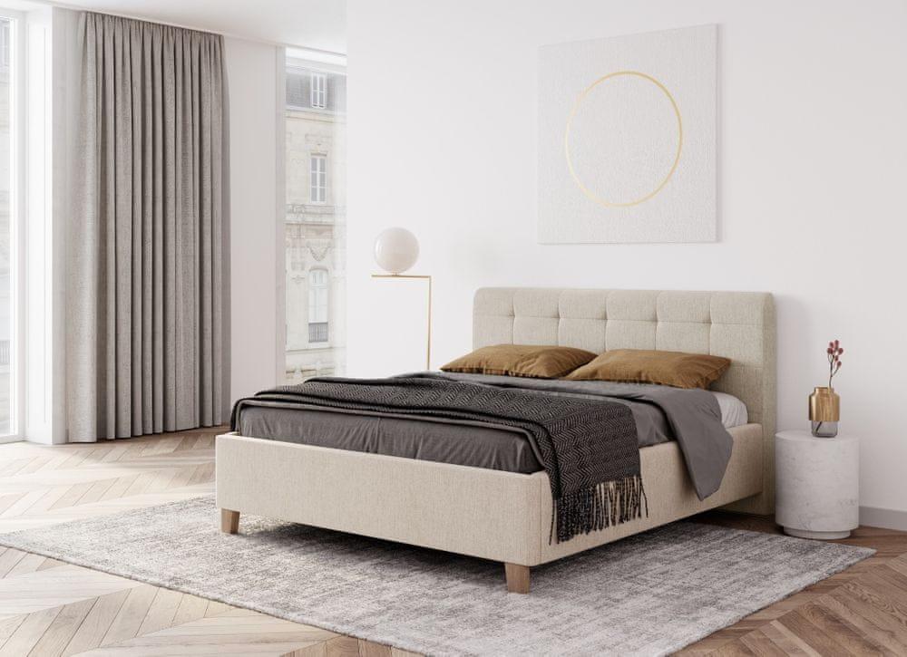 We-Tec Manželská posteľ MONICA, 180x200 cm s úložným priestorom