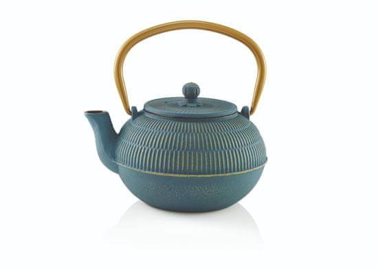 Beka Kanvička na čaj YUAN, modrá, 0,9 l