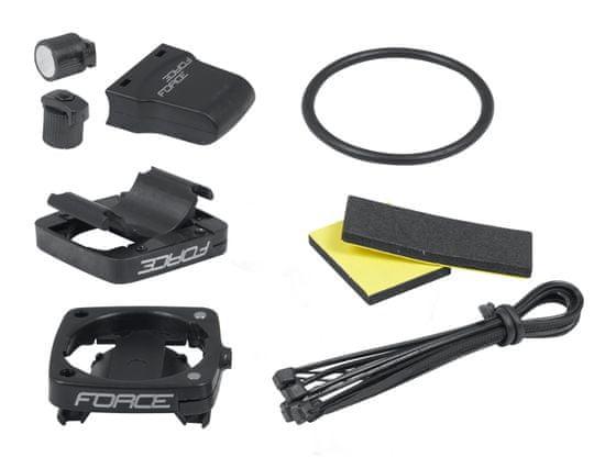 Force Tachometr (cyklopočítač) 12 funkcí, bezdrátový - černá