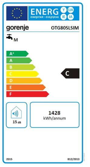 Gorenje tlačni grelnik vode - bojler OTG80SLSIM (347063)
