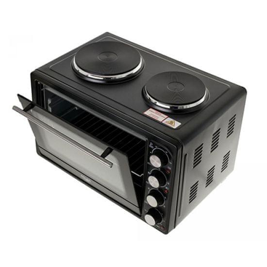 Adler AD6020 električna pečica z grelnima ploščama, 36 l