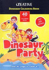 Creative Dinosaur Party 40 pobarvanka z nalepkami