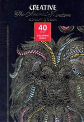 Creative Animal Kingdom pobarvanka za odrasle, 40 listov