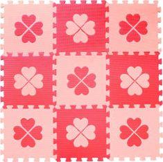 BABY Pěnové BABY puzzle Červené čtyřlístky R (29,5x29,5)