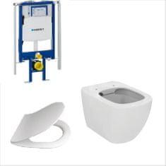 Ideal Standard SET WC závěsný s instalačním modulem - WC závěsné Ideal Standard Tesi, WC sedátko, protihluková izolace