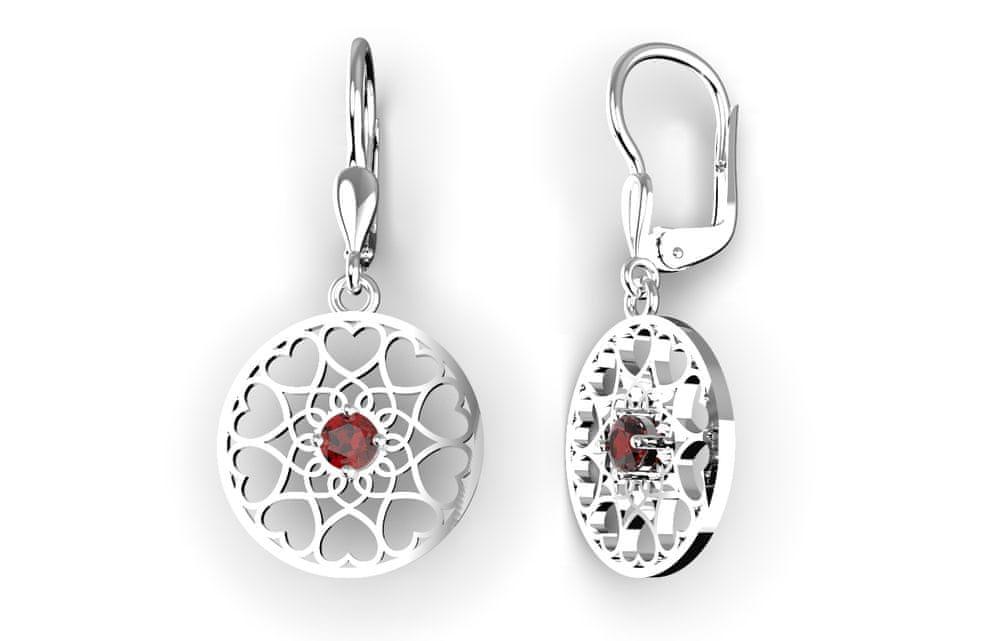 Jewstone Stříbrné mystické náušnice Mandala – Květ života – stříbrné