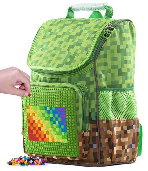 Pixie Crew tornister szkolny Minecraft zielono-brązowy