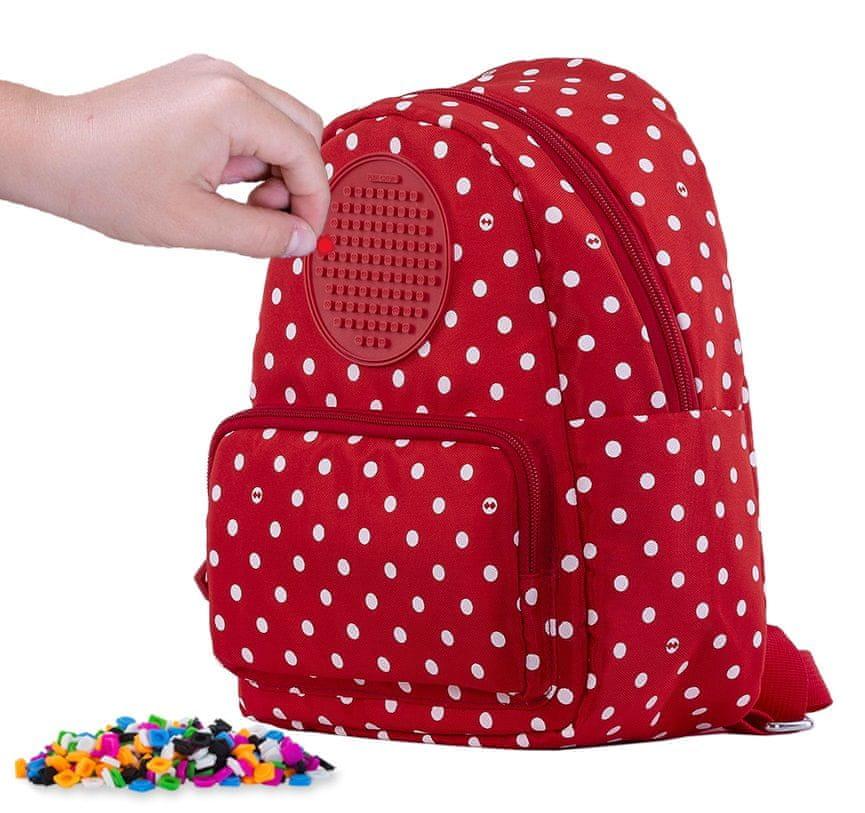 Pixie Crew Teenage batůžek červený s bílými tečkami