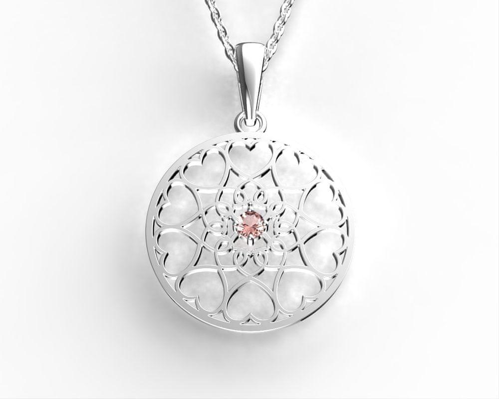 Jewstone Stříbrný přívěsek mystická Mandala – Květ života