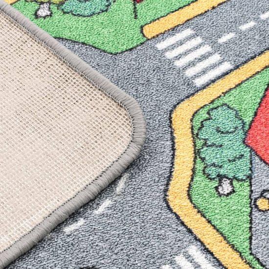 shumee Podložka na hranie, všívaná 170x290 cm, motív mesta a ciest