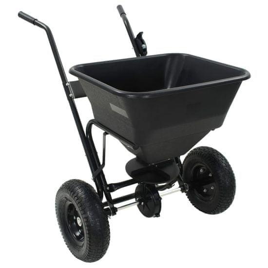 shumee Posypový vozík na soľ, PVC a oceľ 106x73x76 cm, 45 l