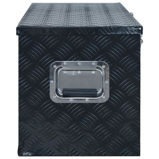 shumee Skrinja iz aluminija 1085x370x400 mm črna