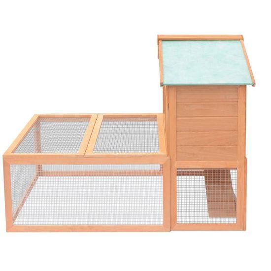shumee Kletka za male živali in zajčke z zunanjim izhodom iz lesa