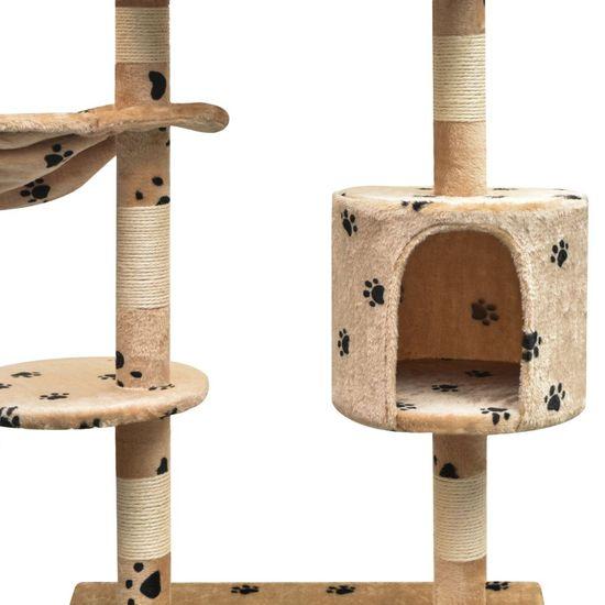 shumee Drapak dla kota, 125 cm, beżowy w kocie łapki