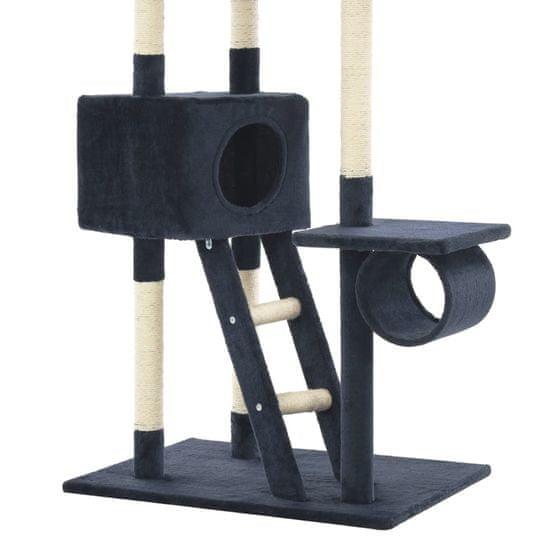 shumee Drapak dla kota z sizalowymi słupkami, 230-260 cm, granatowy