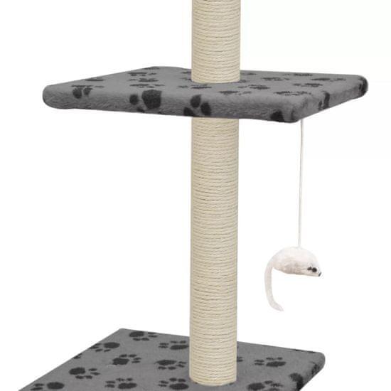 shumee szürke macskabútor szizál kaparófákkal 260 cm