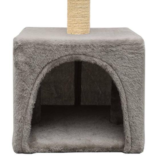 shumee Drapak dla kota z sizalowym słupkiem, 55 cm, szary