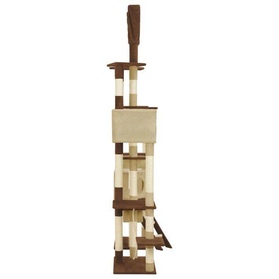 shumee Mačje drevo s praskalniki iz sisala rjavo 234 cm